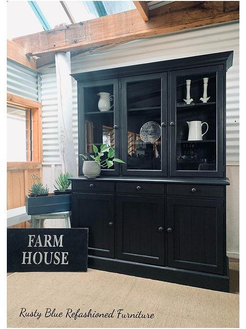 Sold     Black Ash Kitchen Hutch