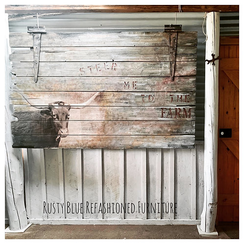 Sold    Barn door wall art