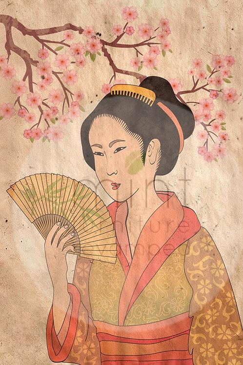 Geisha Decoupage
