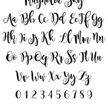 Magnolia Sky Alphabet T24-50
