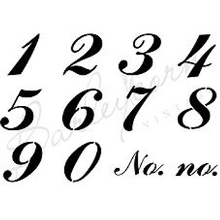 Number Set 1 Stencil T3
