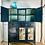 Thumbnail: Sold Blue Ink Retro Kitchen Hutch