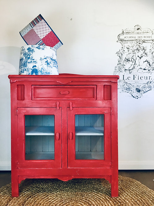 SOLD    Red Hot Cabinet