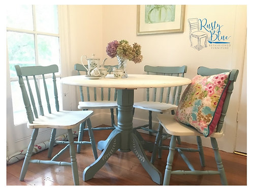 ####SOLD####  Duck Egg Table and Chairs