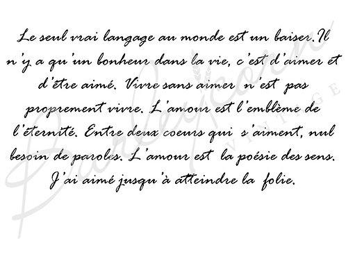 French Romantic Script