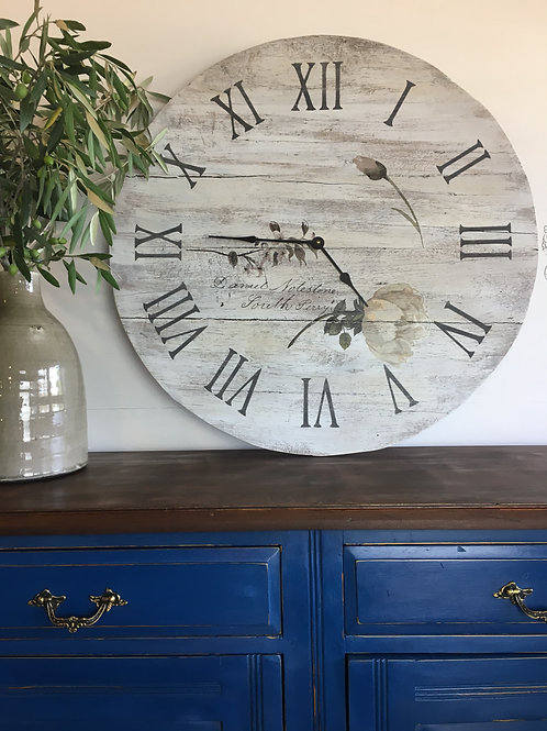 Roman Numerals Timber Clock