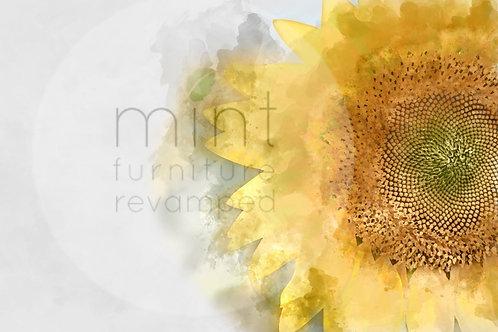 Sunflower Decoupage Paper
