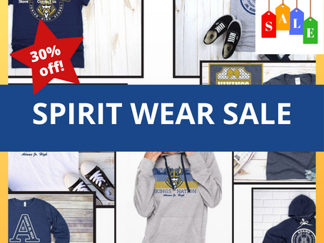 Spirit Wear is off 30%