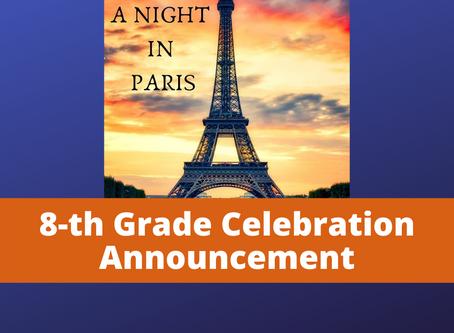 8-Grade Celebration Announcement