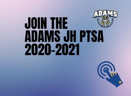 Be a part of Adams PTSA!