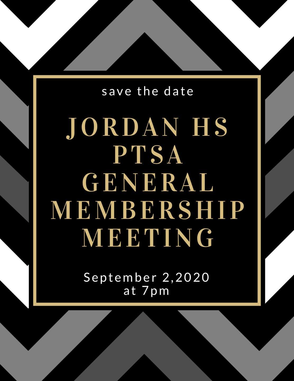 Sept 2, 2020: JHPTSA General Membership Meeting