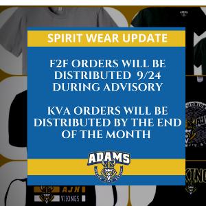 Spirit Wear Distribution