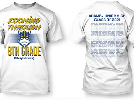 Available for Limited Time - Special Edition Eighth Grade T-Shirts