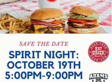 HAT CREEK SPIRIT NIGHT: October 19th