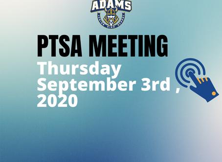 Join us for the Virtual Adams JH PTSA Meeting