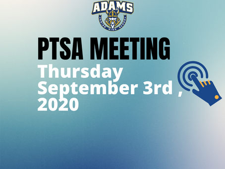Join us for the Virtual Adams JH PTSA Meeting