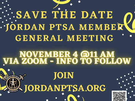 PTSA General Membership Meeting: November 4 @ 11:00 AM