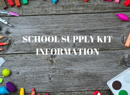 School Supply Kits are Now Available!