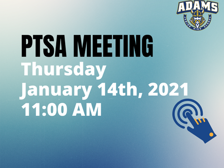 First PTSA Meeting of 2021