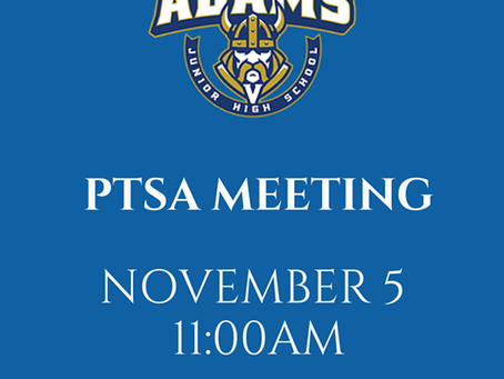 Sign up for General PTSA Meeting on November 5