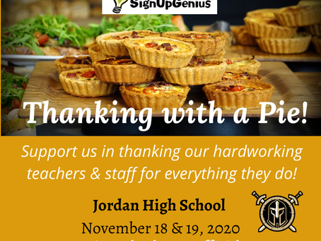 Thanking With a Pie!