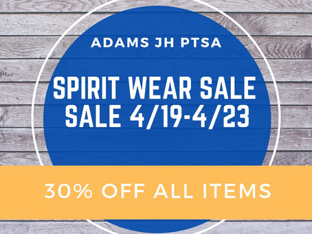 SPIRIT WEAR SALE!!!