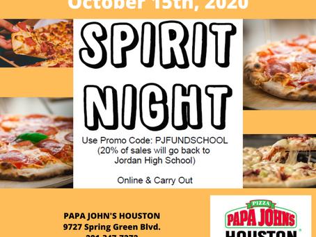 Spirit Night @ Papa John's