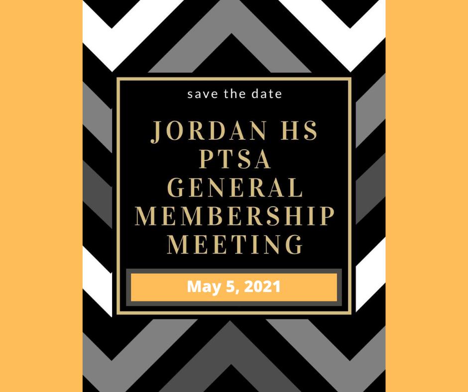 May 5, 2021: PTSA General Membership Mee
