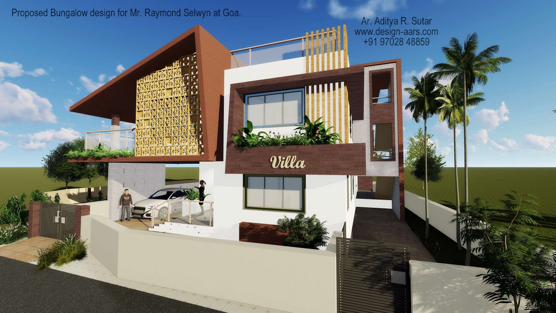 Bungalow Design at Margao, Goa