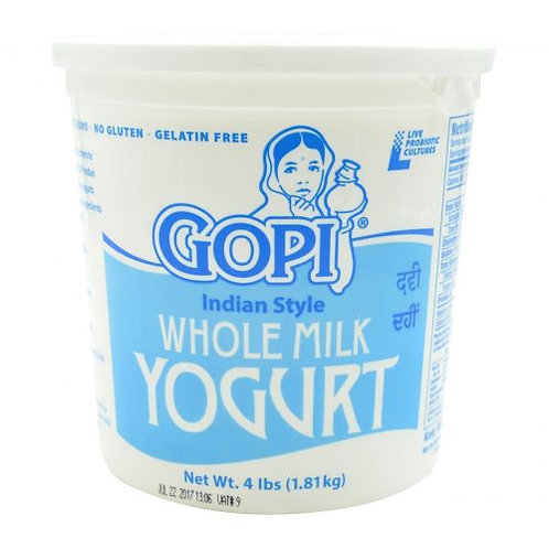 Gopi Whole Milk Yogurt - 4lb