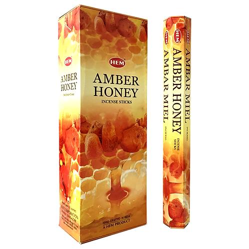 Hem Amber Honey Incense 6pk/20pc