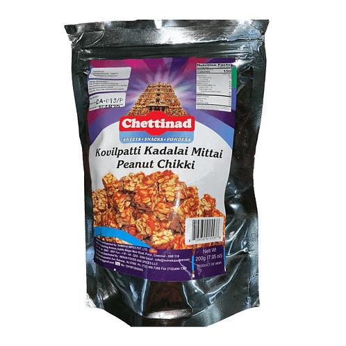 Chettinad Kovilpatti Kadalai Mittai Peanut Chikki - 200 gms