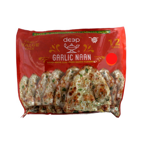 Deep Frozen FP Garl Naan 12 Pc