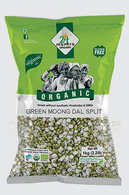 24M Org Green Moong Split - 4lb