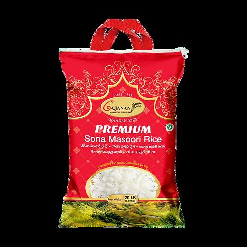 Gajanan Premium Sona Masoori Rice - 20lb