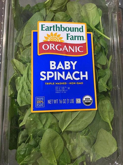 Organic Baby Spinach - 16 oz