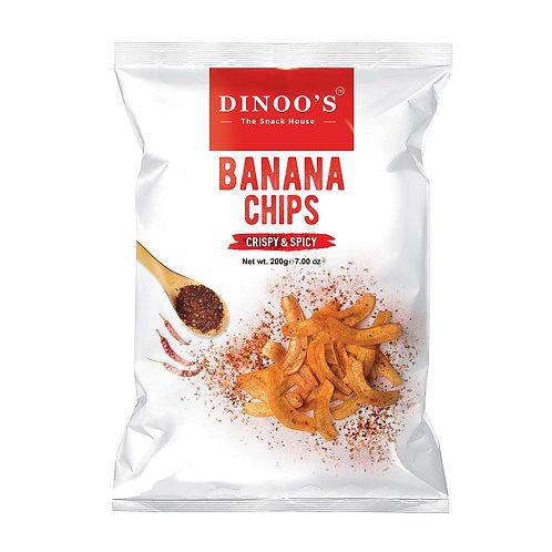 Dinoo Banana Chips(Crispy & Spicy) - 7oz/200gm