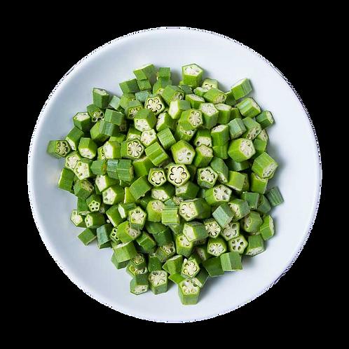 Fresh Cut Indian Okra - 1 lb