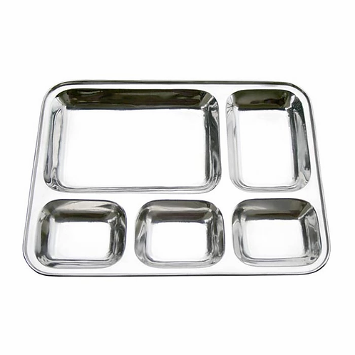 Steel Thali - With Partitions