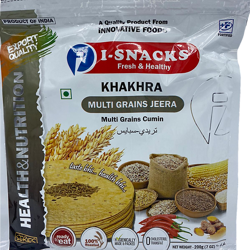 I-Snacks Khakhra Multi Grains Jeera - 200 gm