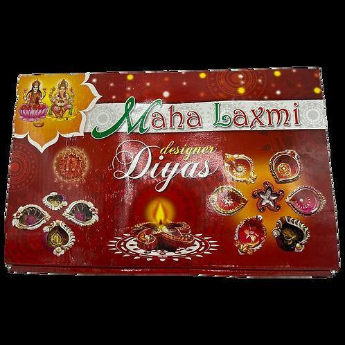 Maha Laxmi Designer Diya - 12ct