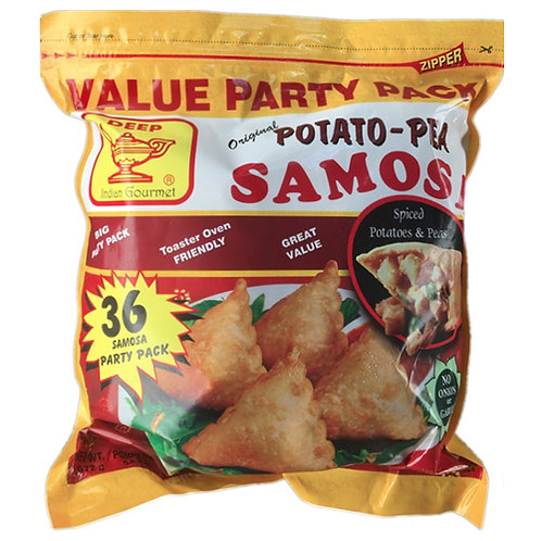 Deep Frozen Potato Pea Samosa-36p