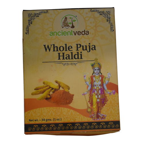Ancient Veda Puja Haldi Whole - 1oz