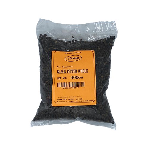 i-Ganga Black Pepper Whole - 400 gms