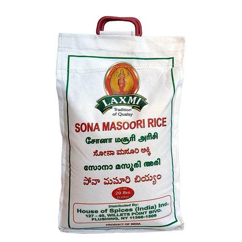 Laxmi Sona Masoori Rice-20LB