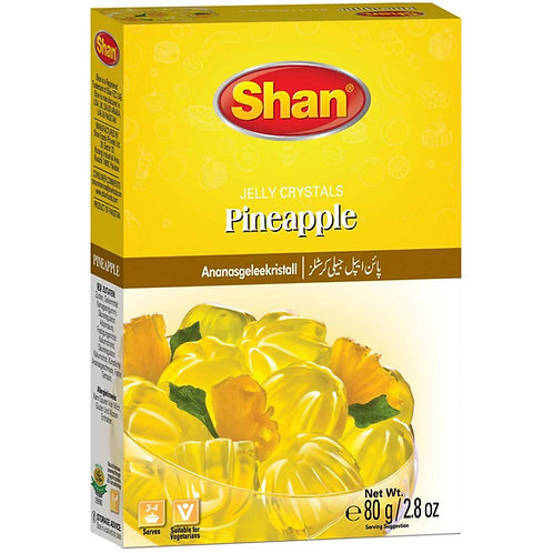 Shan Jelly Crystals Pineapple 80g