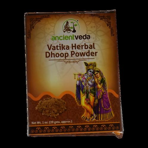 Ancient Veda Vatika Herbal Dhoop Powder - 1oz