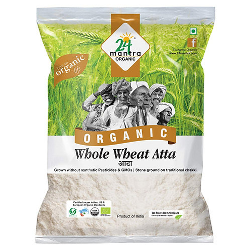 24M Org Whole Wheat Atta 10lb