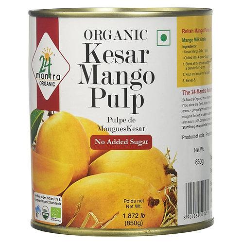24Mantra Organic Kesar Mango Pulp 850g