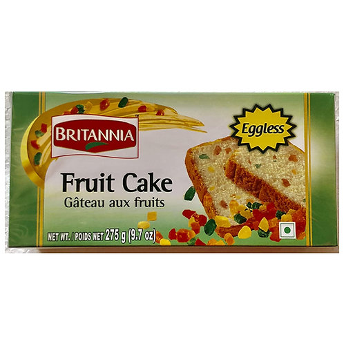 Britania Eggless Fruit Cake - 9.7 Oz/ 275gm